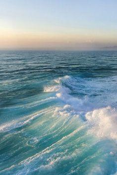 Turquoise   Teal   sea green   sunrise over horizon
