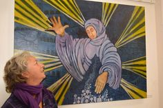 Artist: DanaWodak classic oil tempera painting on canvas 120\100cm artforsale Spititual Realistic Art