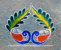 Rangoli Designs Latest, Latest Rangoli, Rangoli Designs Diwali, Kolam Rangoli, Rangoli Borders, Rangoli Border Designs, Rangoli Designs With Dots, Beautiful Rangoli Designs, Peacock Rangoli