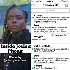 Dentro del teléfono de Josie