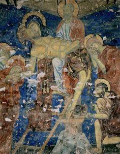Artisti senesi 2° metà del '200 (Guido da Siena, Dietisalvi di Speme, Guido di Graziano, e Rinaldo da Siena) - Deposizione - 1280 circa - affresco - Cripta del Duomo, Siena