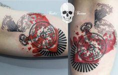 Redberry Tattoo Studio Wrocław #tattoo #inked #ink #studio #wroclaw #warszawa #tatuaz #gdansk #redberry #katowice #sosnowiec #saso #dudic #tavcitattoo #poland #kolaz #collage #zegar #timer #zegarek #sir #psychodelic #graphic