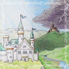 Eine #Illustration für #Kinder von Christina Busse www.christinabuss... für die #Kurzgeschichte 'Der König und die böse Königin' von Silke Winter.