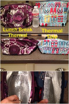 Thirty-One Thermal Tote [3000] $18 vs Lunch Break Thermal [4182] $25  Personalize for $7.  www.mythirtyone.com/allyberggren, allyberggren@gmail.com