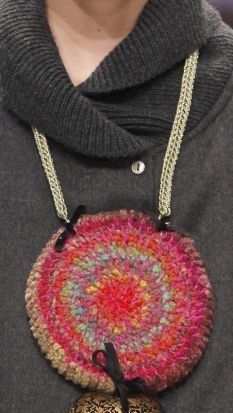 Textile jewelry big on the runways!