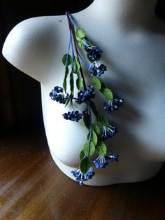 Vintage Forget me Nots in Navy Blue for Bridal, Wreaths, Bouquets, Boutonnieres, Corsages, Crafts.