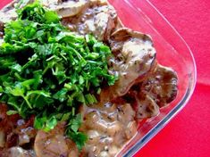 Chicken Livers And Bacon Stroganoff. An English Dish, that takes 10 minutes to prepare And 30 minutes to cook  This Recipe Serves 4 People.