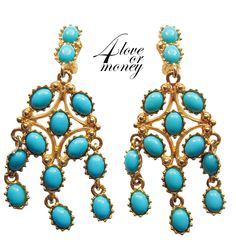 Kenneth Jay Lane turquoise chandelier earrings https://www.etsy.com/listing/249656234/kenneth-jay-lane-turquoise-chandelier?ref=shop_home_active_7