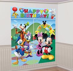 Disney Mickey Mouse and Friends Scene Setter Wall Decorations Kit  Kids Birthday and Party Supplies Decoration *** Learn more by visiting the image link.