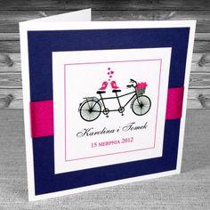zaproszenia ślubne - Zaproszenia z rowerem