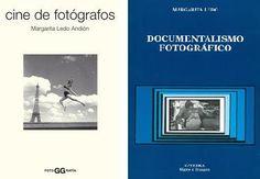 """Dos de los libros de Margarita Ledo. """"Cine de Fotógrafos"""" y """"Documentalismo Gráfico""""."""