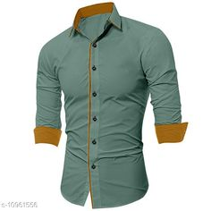Checkout this latest Shirts Product Name: *SHIRTS* Fabric: Cotton Blend Sleeve Length: Long Sleeves Pattern: Solid Multipack: 1 Sizes: S, M, L, XL, XXL Country of Origin: India Easy Returns Available In Case Of Any Issue   Catalog Rating: ★4.1 (293)  Catalog Name: Urbane Fashionista Men Shirts CatalogID_2029549 C70-SC1206 Code: 744-10961556-3711