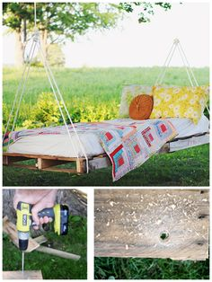 DIY Pallet Hammock Idea