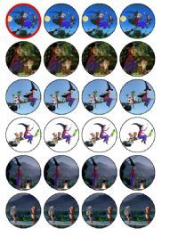 24 x Room on the Broom Edible Wafer Cup cake Top Toppers