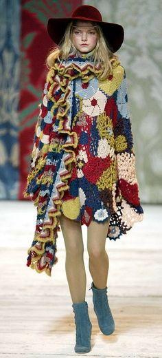 Receitas de Trico e Croche: Desfile de roupas em crochê e tricô by Kenzo