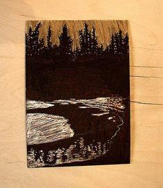 Linoleum printmaking