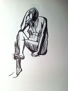 In a couple of minutes, a pen lifedrawing -Tanner Street, London Bridge.