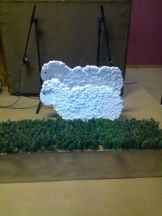 Sheep n grass props for nativity play