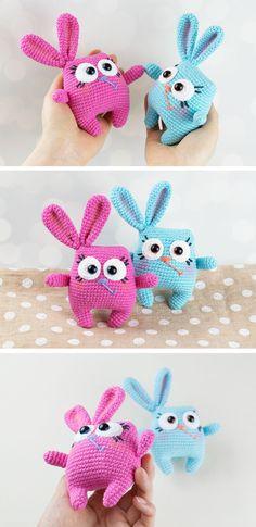 Free Easter Bunny pattern #amigurumi #amigurumidoll #amigurumipattern #amigurumitoy #amigurumiaddict #crochet #crocheting #crochetpattern #pattern #patternsforcrochet