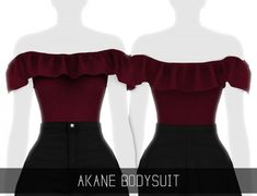 Simpliciaty - Akane bodysuit for The Sims 4