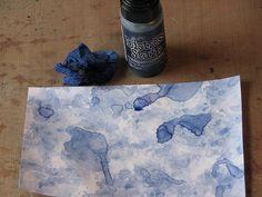 Ink Stains: Watercolor Paper Towel Technique