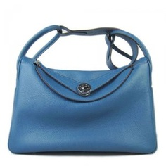 Hermes Blue Jean Lindy with PHW