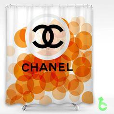 Cheap Chanel dot orange abstract Shower Curtain