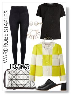 """""""wardrobe basic-leggings"""" by peeweevaaz ❤ liked on Polyvore featuring River Island, Louis Vuitton, DIANA BROUSSARD, Oasis, Honora, Leggings and WardrobeStaples"""