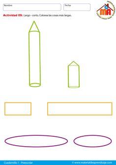 Largo - corto: Preescolar