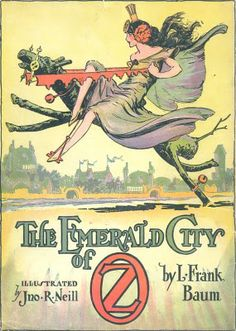 "This cover for a reprint of The Emerald City of Oz was done about the same time. It bears a striking resemblance to the illustration of Ozma in pants. Oz enthusiasts have nicknamed this one ""cheesecake Ozma."" ~Hungry Tiger Tales"