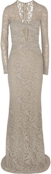 BURBERRY Green Carpet Challenge Cutout Lace Gown