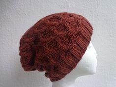 Kopfbedeckung - Beanie Merino kunstvoll gestrickt feinste Wolle - ein Designerstück von flowerchildflowerchild bei DaWanda