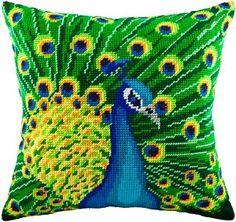 Peacock pillowcase cross-stitch DIY embroidery kit