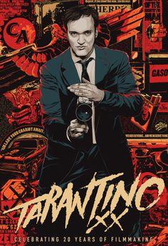 Tarantino. Cartel e ilustración de Ken Taylor