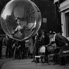 "In 1963, Melvin Sokolsky  shot these iconic images for Harper's Bazaar ""Bubble"" Spring Collection."