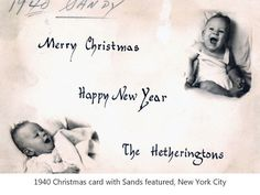 1940 Christmas Card with Sands featured