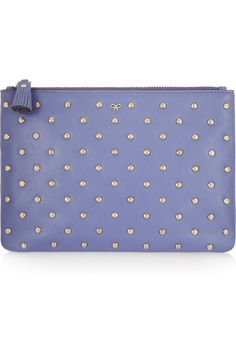 Anya Hindmarch | Joss studded leather pouch | NET-A-PORTER.COM