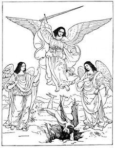 Archangel Art - Michael Defeating Satan