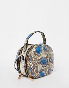 Image 2 ofASOS Snake Box Shoulder Bag