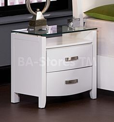 Glass bedroom night stands