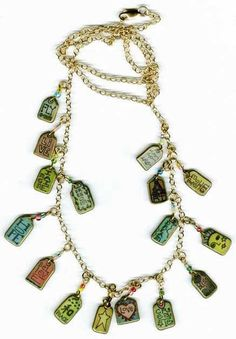Aestheticals/Denise Pettit's polyshrink necklace