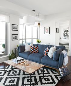 This bachelor pad features great furniture from structube, cb2 and ikea! Decorate your space for less www.cmidesign.ca #CMID