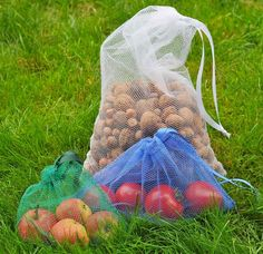 ItzaBag reusable produce bags are great for produce. They are also good for nuts, beans and/or other products that you might buy loose. They are made