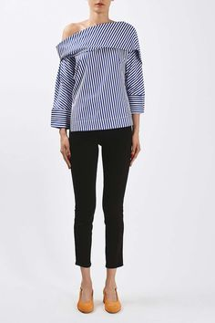 Twist Stripe Top by Boutique
