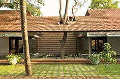 Built by Khosla Associates in Hubli, India The house, conceived for Hubli businessman ArvindBellad and his family is set amongst a one acre wooded property in n...