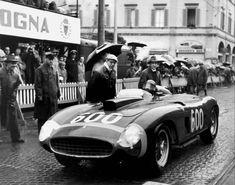 Juan Manuel Fangio in his Ferrari 290 MM at the... at Legends of Racing