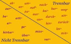 Trennbar = Seperable / Nicht Trennbar = Inseperable