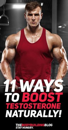 Check out these 11 Ways To Boost Testosterone Naturally! #fitness #gym #exercise #workout #bodybuilding #health