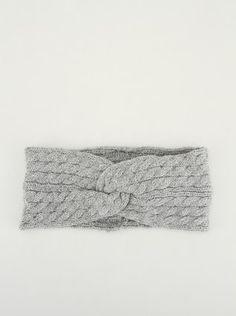 Louche - Šedá pletená čelenka