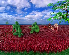 Sandy Skoglund has been installing her conceptual ideas for 4 decades. Although her work mixes nature & artifice, it does so without the use of Photoshop. Dreamy Photography, Photography Collage, History Of Photography, Documentary Photography, Color Photography, Sandy Skoglund, Instalation Art, 11. September, Photo D Art